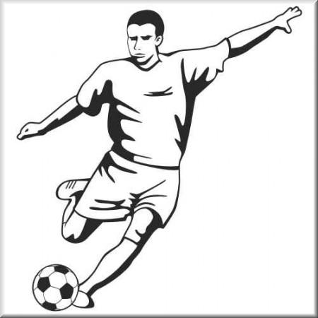 Aufkleber Sportmotiv Fussballer 11
